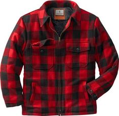 Legendary Whitetails The Outdoorsman Buffalo Jacket Plaid Medium ** For more information, visit image link. (This is an affiliate link) Buffalo Jacket, Buffalo Plaid, Lined Flannel Shirt, Plaid Shirts, Cuir Vintage, Carhartt Jacket, 20s Fashion, Red And Black Plaid, Plaid Jacket