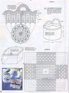 Discover thousands of images about Koszyczki - Urszula Niziołek - Picasa Web Albums Diy Crochet Basket, Crochet Bowl, Crochet Chart, Crochet Gifts, Crochet Motif, Crochet Designs, Crochet Doilies, Easy Crochet, Crochet Flowers