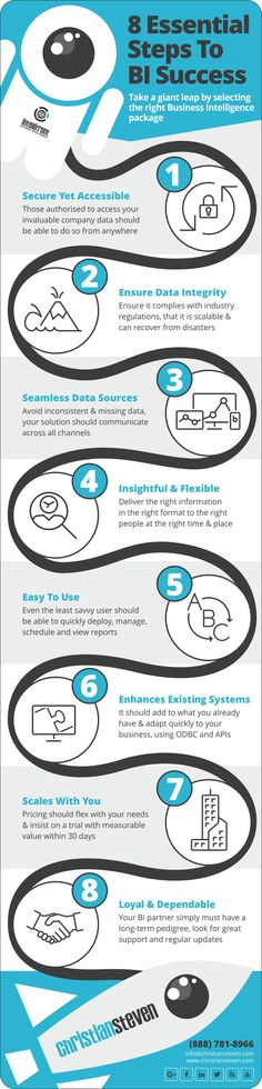 8 Essential Steps To BI Success, Take a giant leap by selecting the right Business Intelligence package