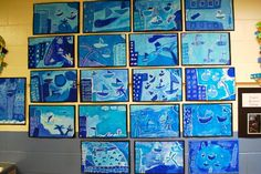 Seascapes - Picasso's Blue Period Inspired