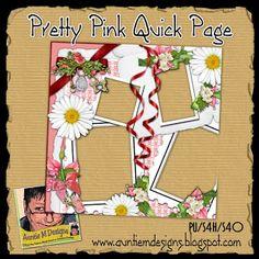 Auntie M Designs: Pretty Pink Quick Page