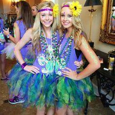 Mardi Gras-themed Bid Day
