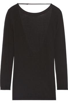 Open-back merino wool sweater, Adam Lippes, 3.950 kr.