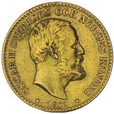 Oscar II. 1872 - 1907   10 Kronor Gold, Schweden