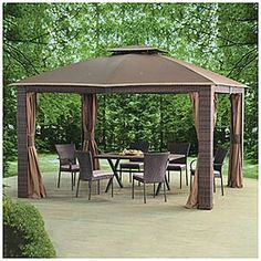 Wilson Amp Fisher 174 11 X 11 Pop Up Canopy With Netting At