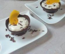 Rezept Schoko-Dessert-Schälchen mit Pfirsich-Eierlikör-Quark von Thermimaus - Rezept der Kategorie Desserts