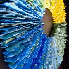 Green to Blue Edges by Julie Massie. Photo courtesy the artist