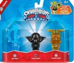 Skylanders Trap Team 3 Pack Traps Kaos, Air, Earth NEW IN BOX Easter Basket Gift #SKYLANDERSTRAPTEAM