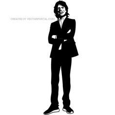 Vector illustration of Rolling Stones singer, Mick Jagger.