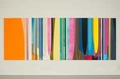 LA-based artist Dion Johnson's colorful oversized paintings are just what the doctor ordered today. I love the horizontal one – it resembles the horizon, perhaps as seen from a plane window on takeoff. Post Painterly Abstraction, Abstract Art, Different Art Styles, Colour Field, Landscape Artwork, Art For Art Sake, Op Art, Contemporary Paintings, Art Boards