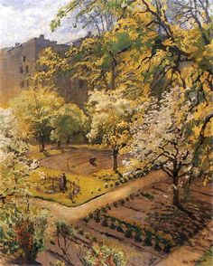 Józef Mehoffer - Garden. Jozef MEHOFFER, (19 March 1869 - 8 July 1946) was a Polish painter and decorative artist, one of the leading artists of the Young Poland movement and one of the most revered Polish artists of his time