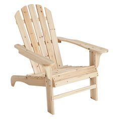 This Stonegate Designs Wooden Adirondack Chair and Ottoman are great for relaxing on the deck, porch or patio. The durable fir wood (Cunninghamia l. Wooden Patio Chairs, Plastic Adirondack Chairs, Patio Chair Cushions, Patio Seating, Outdoor Chairs, Outdoor Spaces, Lawn Furniture, Outdoor Furniture, Backyard Furniture