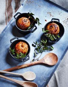 Pommes au four au cidre, crumble sarrasin de Christian Le Squer