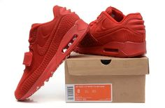 c5fed76bd3e96 Latest Nike Air Yeezy 2 Women Shoes Max90 devil series Light 2015 all red  on sale