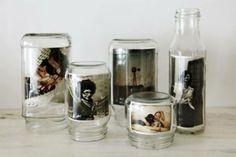 Foto in een glazen fles of pot