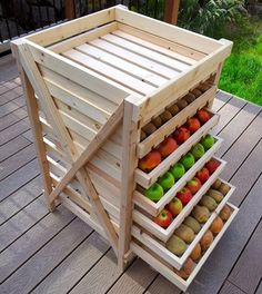 Create This Food Storage Shelf | 16 Cool Homesteading DIY Projects For Preppers | Self-Sufficiency | Homemade | Handmade And Off The Grid Hacks by Pioneer Settler at http://pioneersettler.com/16-cool-homesteading-diy-projects-preppers/