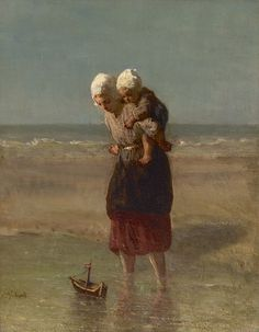 Buy online, view images and see past prices for Josef Israels. Invaluable is the world's largest marketplace for art, antiques, and collectibles. Sisters Art, Painting People, Dutch Painters, Impressionism Art, Jewish Art, Foto Art, Famous Art, Dutch Artists, Beach Art