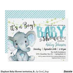 New Baby Shower Decorations Elephant Theme Grey 22 Ideas Elephant Baby Showers, Baby Elephant, Baby Boy Shower, Elephant Gifts, Baby Shower Invitation Cards, Baby Shower Invitations For Boys, Invitation App, Elephant Theme, Safari Theme