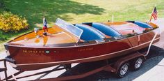 Antique mahogany boats!