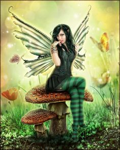 Fae Art | mushroom fae by brandrificus digital art photomanipulation fantasy ...