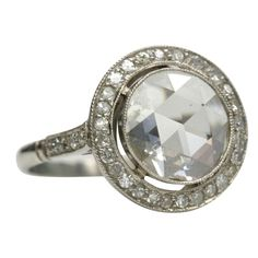 My engagement ring: Vintage 1920s rose cut diamond. The inspiration behind our art deco wedding  #cupcakedreamwedding