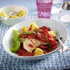 Tomatenragout mit Seelachsfilet Rezept