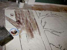 DIY - Party Mural Backdrop using Canvas Drop Cloth - OrganicallyMade.com