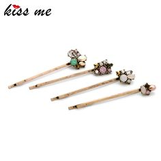 Charming Retro Barrettes for Girls New Design Alloy Flowers Hair Accessories Fashion Jewelry