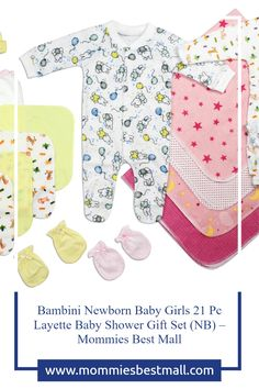 Good to be prepared buy this Newborn 21pc Layette set at Mommies best Mall Getting Ready For Baby, Preparing For Baby, Baby Shower Presents, Baby Shower Gifts, Newborn Baby Care, Baby Mittens, Baby Layette, Baby Care Tips, Baby Gown
