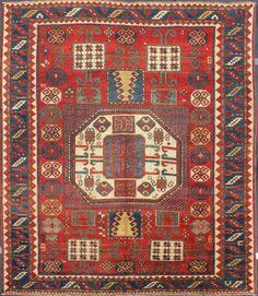 """KEIVAN WOVEN ARTS, Type : Kazak - Karachopf Origin : Caucasus Size : 6'0""""x7'1"""" Circa : 1880"""