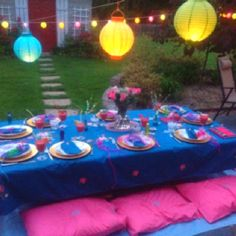 Outdoor party idea! Done for my sister's 13th birthday! Love it!!!!!