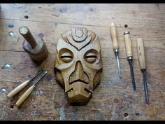 Carving A Dragon Priest Mask Out Of Walnut - YouTube