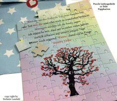 Puzzle - Liebe - 70 Teile -Liebesgrüße- weil du... von ღKreawusel-Designღ auf DaWanda.com