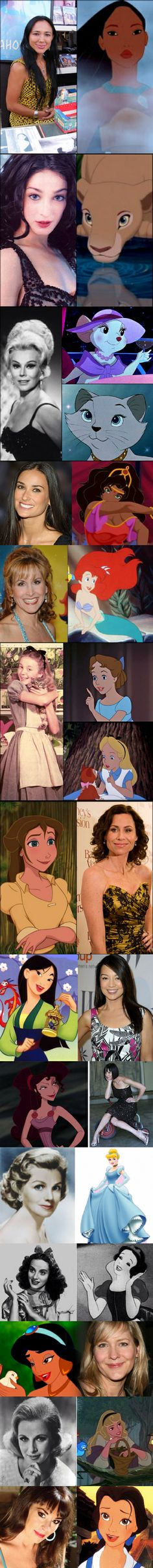 Disney characters and the people that voiced them