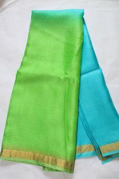 Pure kota silk double shaded saree