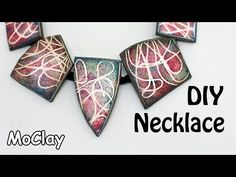 DIY Necklace with ink stamps effects - Polymer clay tutorial Polymer Clay Canes, Polymer Clay Miniatures, Polymer Clay Necklace, Polymer Clay Pendant, Polymer Clay Projects, Polymer Clay Beads, Diy Clay, Handmade Polymer Clay, Ink Stamps