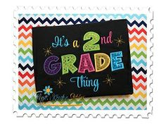 2nd Grade Thing Applique - 3 Sizes! | back-to-school | Machine Embroidery Designs | SWAKembroidery.com Katelyn's Kreative Stitches