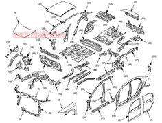 Diagrama de ubicación de partes y componentes del motor