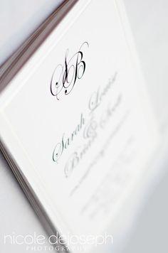 Simple yet Elegant Wedding Invites   Nicole DeJoseph Photography