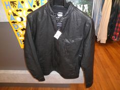 G-STAR leather look jacket