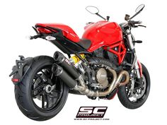 SC Project Ducati Monster 1200 GP TECH Dual Silencers