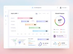 Task Management Dashboard - Light Version designed by Timotius Muliawan. Connect with them on Dribbble; Digital Dashboard, Web Dashboard, Ui Web, Dashboard Design, Ios Design, Graphic Design, Interface Design, User Interface, Usability Testing