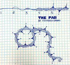 The Fab tangle pattern by Texasdoxiemama Doodle Designs, Doodle Patterns, Zentangle Patterns, Doodle Borders, Zentangle Drawings, Doodles Zentangles, Doodle Drawings, Tangle Doodle, Zen Doodle
