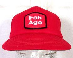 3924faded4c40 RARE vtg NOS Iron Age Work Boots Shoes Trucker Hat Cap Unworn chore Mint