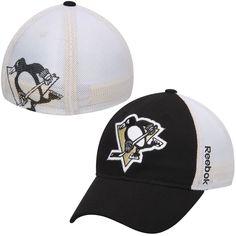 Men's Pittsburgh Penguins Reebok Black Face Off Slouch Flex Hat