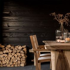 Tuinkamer | Wesselshoek Outdoor Rooms, Outdoor Living, Patio Roof, Ditsy, Firewood, Home And Garden, Chair, Furniture, Home Decor