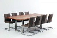 Infinity wood table with steel base by Dash Design Furniture