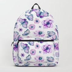 Purple Butterflies Flying Backpack by augustinet | Society6 Butterflies Flying, D Craft, Purple Butterfly, Women's Summer Fashion, Gifts For Him, Fashion Backpack, Backpacks, Gift Ideas, Clothes For Women