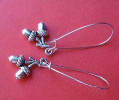 Tiny acorn earrings just $7.00 at Etsy.