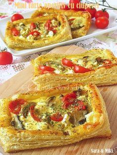 Mini tarte aperitiv cu ciuperci ~ Culorile din farfurie